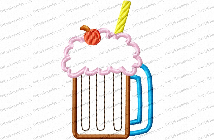 root beer float applique embroidery design $ 6 00 $ 3 00 the root beer ...